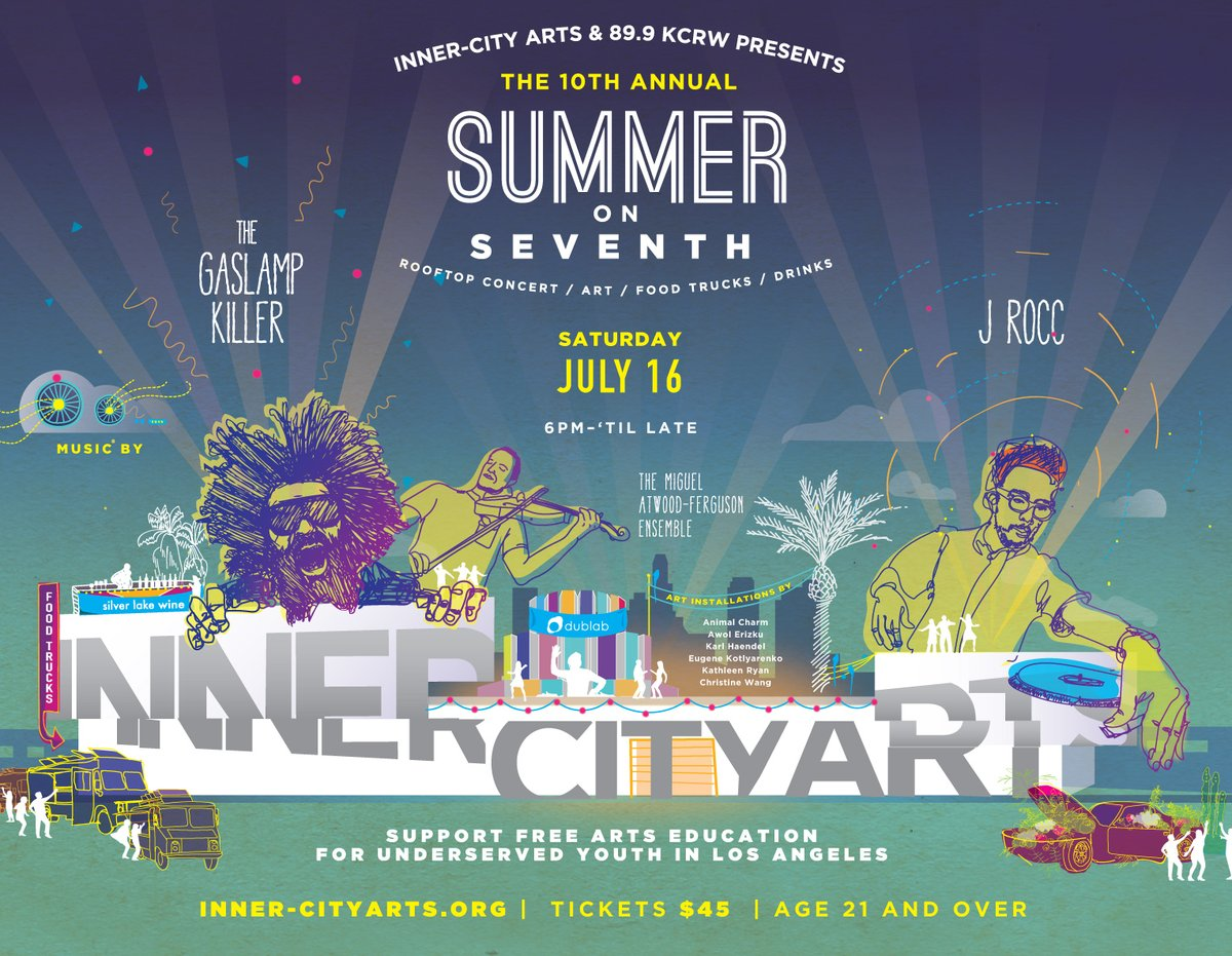 Summer on Seventh with J  Rocc, Gaslamp Killer and Miguel Atwood-Ferguson