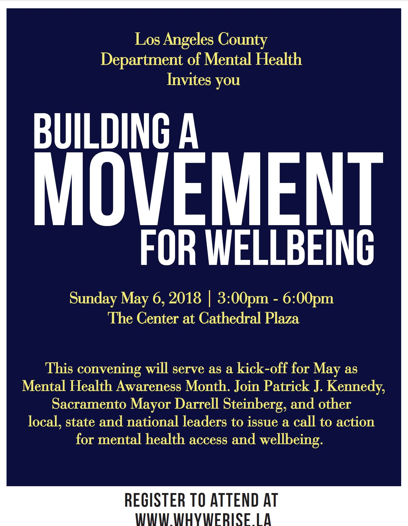 Building A Movement For Wellbeing Kcrw Events