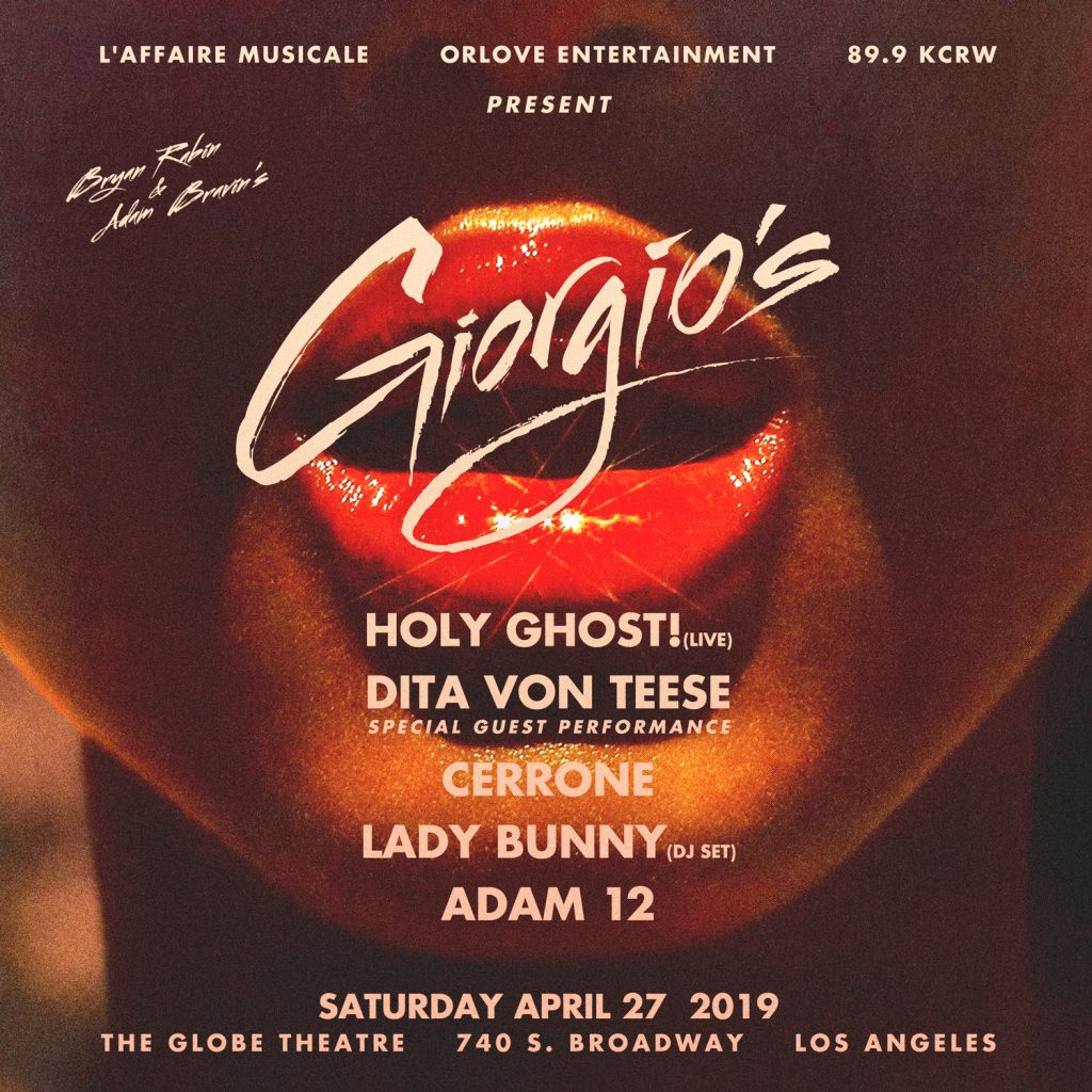 Giorgio's with Holy Ghost! (Live), Dita Von Teese, Cerrone, Lady Bunny and Adam 12